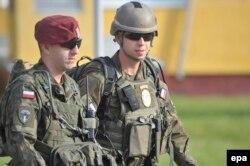 Польские военные - участники совместных учений на западе Украины