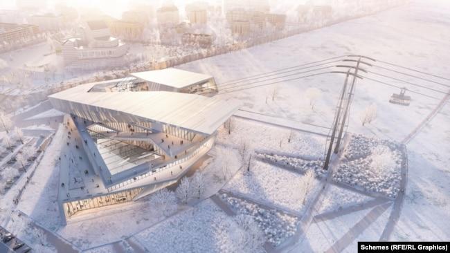 Архітектурною концепцією російського терміналу «канатки» займається голландська компанія UNStudio