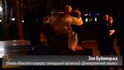 У Луганську з нагоди Вільнюського саміту розгорнули 50-метровий прапор України