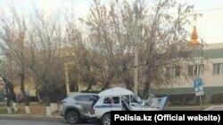 Щуцинск қаласында Lexus NX20 автомобилі Lada-21214 көлігін соғып, екі полицей қаза тапты. Ақмола облысы, 15 қазан, 2020 жыл.