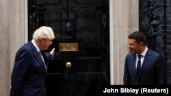 Борис Джонсон и Владимир Зеленский. Лондон, 8 октября 2020 года