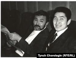 Табылды Эгембердиев (слева) и автор статьи. 1991 год