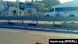 Трещина на мосту в Севастополе