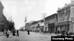 Самара. Улица Дворянская (ныне Куйбышева) 1917 год