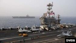 آمریکا اقدام به اعزام ناو هواپیمابر آبراهام لینکولن، بمبافکن و سامانه پدافندی پتریوت به غرب آسیا کردهاست.
