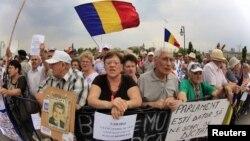 Protestatari anti-Băsescu, Bucureşti 27 august 2012