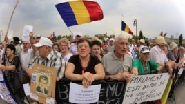 Proteste anti-Băsescu la Bucureşti, august 2012