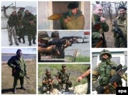Фотографії заарештованих іспанців, які воювали на боці сепаратистів. Їхні імена також були занесені в базу даних «Миротворець»