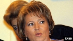 The pamphlets analyzed the performance of St. Petersburg Governor Valentina Matviyenko.