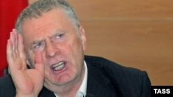 Russia -- Leader of the Liberal Democratic Party Vladimir Zhirinovsky at a press conference in Moscow, 14Oct2009