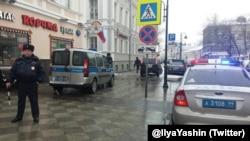 Поліція біля офісу ПАРНАСу, Росія, Москва, 22 лютого 2016 року