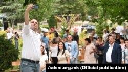 Потпретседателот на СДСМ и министер за здравство Венко Филипче во посета на Кавадарци и Неготино на 3 јуни 2021