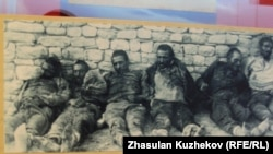"An archival photo of ""victims of red terror"" at the newly opened Museum of Political Repression in Kazakhstan."