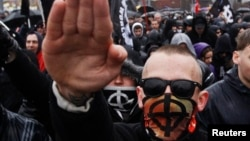 Ռուսաստան - Ռուս ազգայնականների երթը Մոսկվայում Ազգային միասնության օրը՝ նոյեմբերի 4-ին, 2013թ․