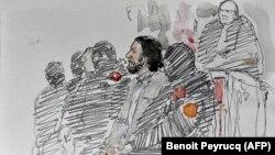 Судова замальовка із засідання суду в Брюсселі, Бельгія, 5 лютого 2018 року