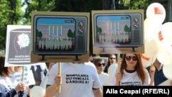 Marșul solidarității presei la Chișinău