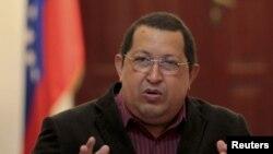 Президент Венесуэлы Уго Чавес. Боливар, 15 февраля 2012 года.