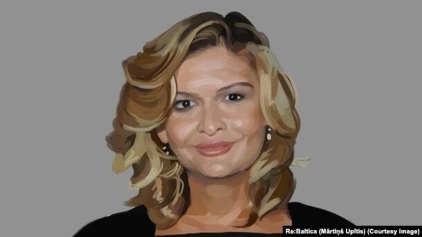 Младшая дочь президента Узбекистана Лола Каримова-Тилляева (художник Мартинш Упитис).