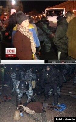 Ірина Коцюбинська, яку розшукували, бо вважали, що вона загинула після розгону Майдану, Київ, 30 листопада 2013 року