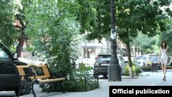 Armenia -- Yerevan's tiled sidewalks, Yerevan, 11 July 2013.