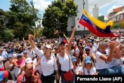 Митинг с требованием отставки президента Венесуэлы Николаса Мадуро в Каракасе. Венесуэла, 4 марта 2019 г.