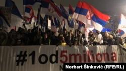 Protest u Novom Sadu, 25. januar 2019.