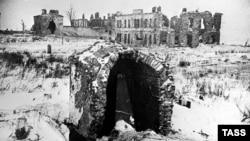 Пулковская обсерватория в январе 1944 года