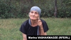 Biological mother Liana Khurtsidze in Dikhashkho, Georgia