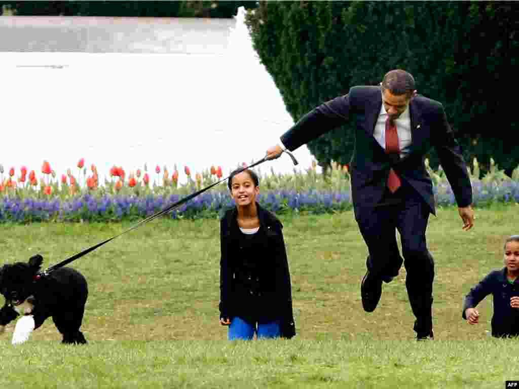 SAD - Stigao je Bo! - Predsjednik Barack Obama ispunio je još jedno obećanje. Kćerkama Malii i Sashi poklonio je psa, kojeg su nazvale Bo.