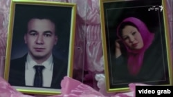 Afghan shopkeeper Saidali Haidari (left) and his bride Jamila Qambari who was shot dead on their wedding night.