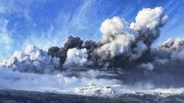 Извержение вулкана Эйяфьятлайокудль в Исландии в апреле 2010 года