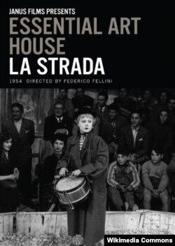 """Federico Felliniyə dünya şöhrəti qazandıran """"Yol"""" filminin posteri,1954-cü il."""