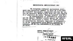 Document Strict Secretal Securității din România în care se face referire la Radio Europa Liberă, mai 1987.