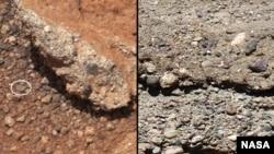 Камни на Марсе и на Земле.