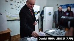 Igor Dodon în ziua alegerilor parlamentare, 24 februarie 2019