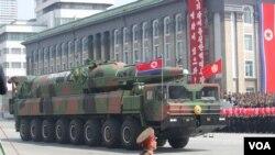 موشک بالیستیک کره شمالی در رژه نظامی (عکس از آرشیو)