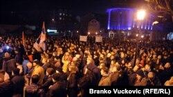 Sa protesta u Kragujevcu