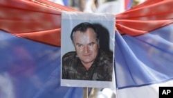На митинге в поддержку Ратко Младича в Баня Луке, 31 мая 2011