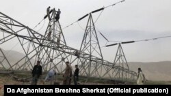 One of the pylons recently downed in Afghanistan's Baghlan Province