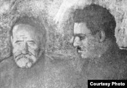 Шириншо Шотемур (аз рост) бо Садриддин Айнӣ