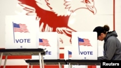Избирательный участок в Мэдисоне, штат Висконсин, США, 6 ноября 2018 года.