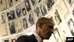 باراک اوباما در موزه هولوکاست ید وشم