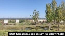 Түркістан облысы Мақтаарал ауданында жақында іске қосылған күн көзінен қуат алатын станция.