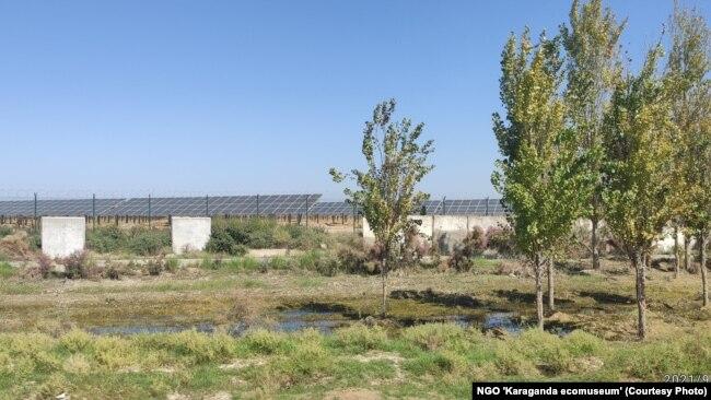 Недавно запущенная солнечная электростанция в Мактааральском районе Туркестанской области