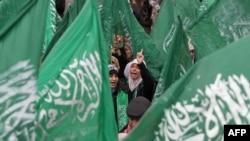Прапори угруповання «Хамас»