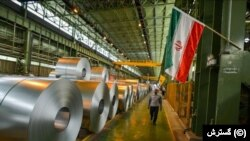 Iran's Mobarakeh Steel Company is one of the firms to have been hit with the new sanctions. (file photo)