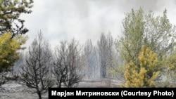 Пожар во близина на Пехчево.