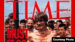 """Fikret Alić na naslovnici lista """"Time"""", logor Trnopolje"""