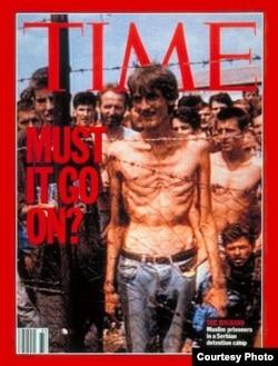 Naslovnica s logorašem Fikretom Alićem za kojeg je Karadžić ustvrdio da je prirodno mršav