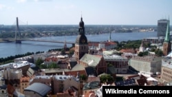 Виды Риги, столицу Латвии.